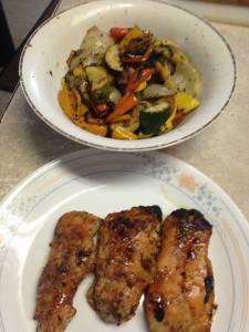 chicken and veggies