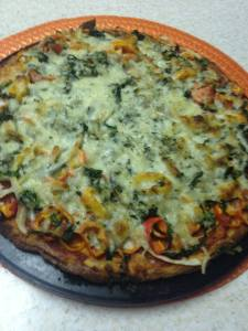 low carb pizza cooked