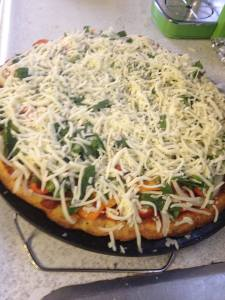 wheat free pizza unbaked